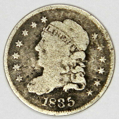 1835 Bust Half Dime - Solid Full Rimmed Vg++/fine - Priced Right!