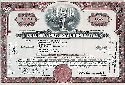 Columbia Pictures Corporation, New York, 1965 (100 Shares)