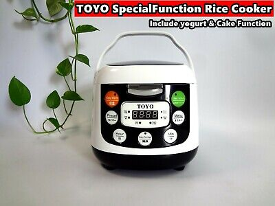 TOYO Multi Function Rice Cooker/ Keep Warm, Heavy Duty Inner Pot 2.L /4cp MBFS20