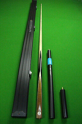 Emperor Series Ash 1 Piece Teak Wood+Ebony Handmade Snooker Cue Set#BU10