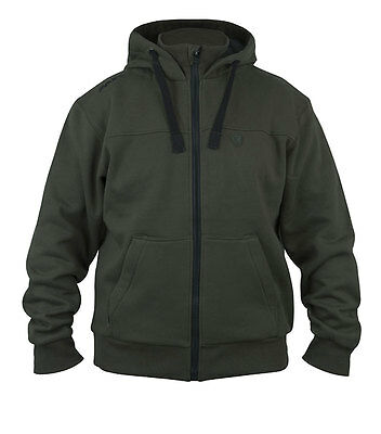 New Fox Green Black Heavy Lined Hoodie Hoody Top - All Sizes - Fishing Clothing