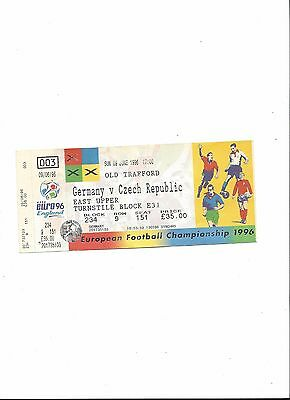 Euro 96: DEUTSCHLAND - CZECH REPUBLIC, 09.06.1996, EM England 1996, not used