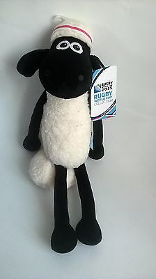 BNWT Shaun The Sheep Rugby World Cup 2015 Plush Soft Toy Animal Wallace & Gromit