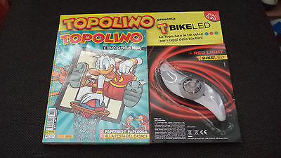 Topolino Libretto N.3209 Blisterato Con T Bike Led Red Light Topo Luce - Nuovo