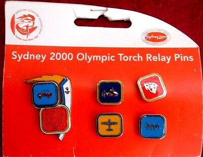 Sydney 2000 Olympic Torch Relay  Pins Set 5  Badge