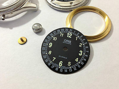 Beautiful Oris Pointer Large Cased Gents Watch Complete Case.(Black Dial)