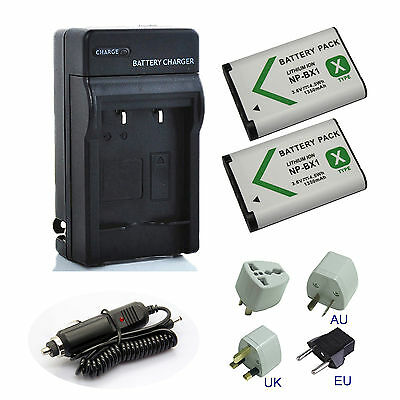 1350mAh Battery / Charger for Sony HDR-AS20, HDR-AS50, HDR-AS50R POV Action Cam