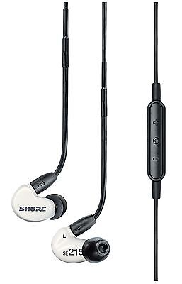Shure SE215m+ Special Edition Sound Isolating Earphones with White Remote and