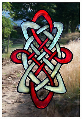 Window Decor Long Celtic Stained Glass Effect cling / decal