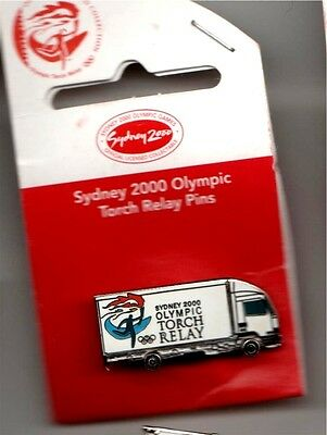 SYDNEY 2000 OLYMPIC GAMES Torch Relay Truck Pantec PIN BADGE