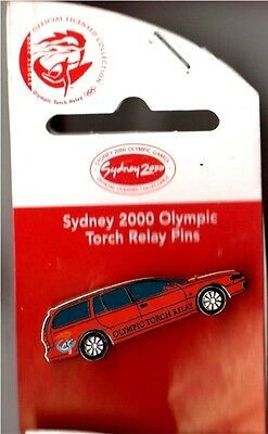 SYDNEY 2000 OLYMPIC GAMES Torch Relay Station Wagon / Car PIN BADGE