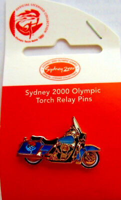 SYDNEY 2000 OLYMPIC GAMES Torch Relay Harley Davidson Motor Cycle  PIN BADGE