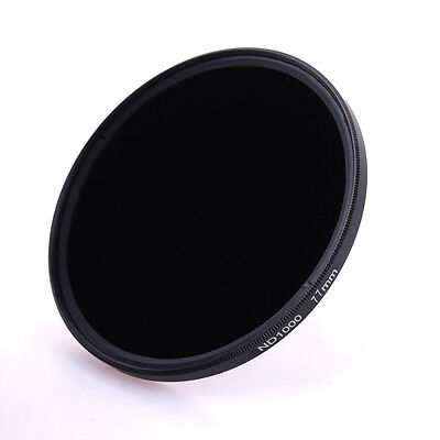 77 mm Slim ND ND1000 Neutral Density Filter 77mm +Cleaning Cloth + Pouch LF510