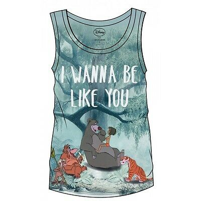 The Jungle Book Sublimation Girlie Tank Top I Wanna Be Like You Taglia S