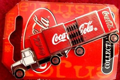 COCA COLA COKE Delivery Truck & Trailer SYDNEY 2000 OLYMPIC GAMES BADGE PIN