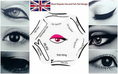 6 in 1 Eyeliner Stencil Set Quick Makeup Guide Perfect Smokey Cat Eyeshadow Tool