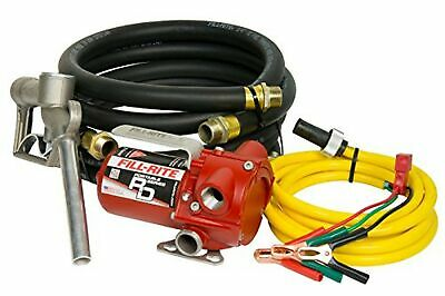 Fill-Rite RD812NH Pump, Manual Nozzle, 8' Discharge Hose, 6' Suction Hose, 10' Q