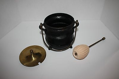 Cast Iron & Brass Mortar and Pestle