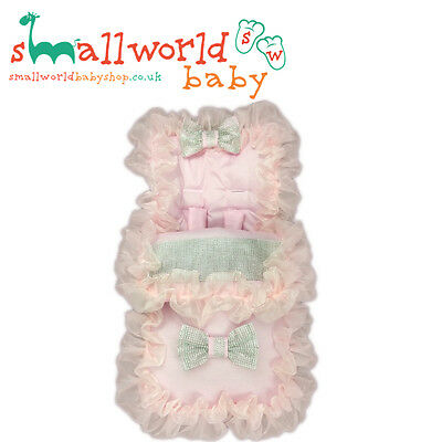 Girls Pink Frilly Full Bling Footmuff Cosytoes (NEXT DAY DISPATCH)