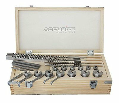 Accusize - No.70 Metric HSS Keyway Broach Sets in Fitted Box, 72 Combinations, #