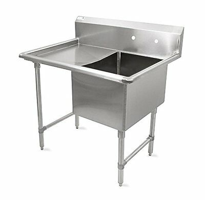 """John Boos B Series Stainless Steel Sink, 14"""" Deep Bowl, 1 Compartment, 24"""" Left"""