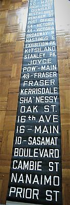 Vintage Vancouver BC Canada Trolley Destination Roll Sign Streetcar Stanley Park