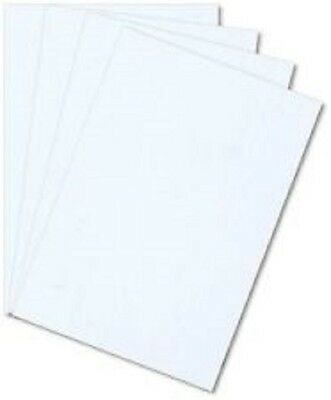 """Package of 4 WHITE STYRENE PLASTIC SHEET .010"""" THICK 8"""" X 12"""" *"""