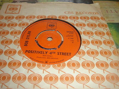 BOB DYLAN, POSITIVELY 4th STREET*FROM A BUICK 6, 1965 CBS 201824, ORIGINAL MINT-