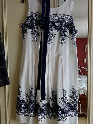 laura ashley dress size 20 tea dress