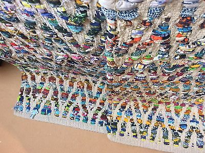 "Designer Multi Color 1 Rag Rug Mat Sold Individually, 2 Available 60""x33"" Beauty"