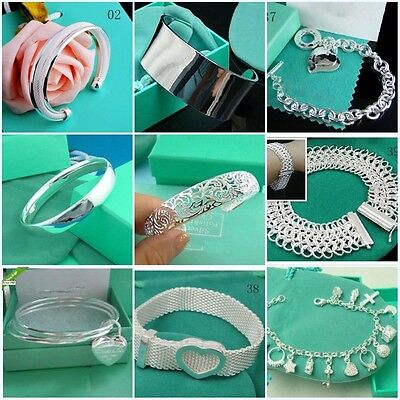 Brand New Fashion Jewelry charm Solid 925silver Bracelet Bangle gifts