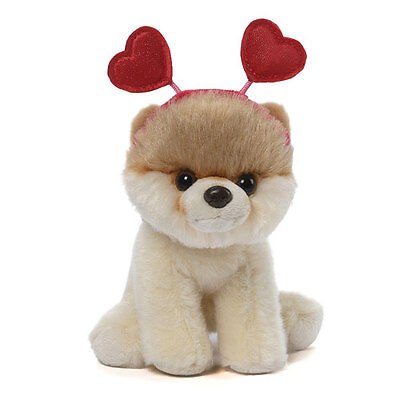 "Gund ~ #028 HEARTS HEADBAND Itty Bitty Boo ~ The World's Cutest Dog 5"" Plush NWT"