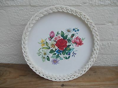 Vintage Royal Melamine Serving Tray Shabby Chic Floral Flowers