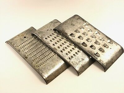"""3 Vintage Metal 60's Graters Perfect For Decor. """" Best"""""""