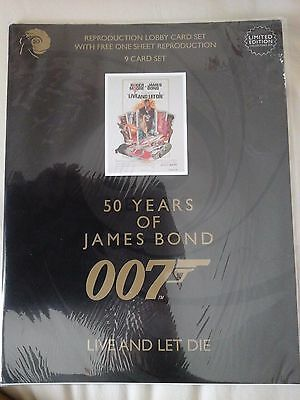 James Bond 50 Years - Live and let die - 9 Lobby Card Collectors Set - NEW