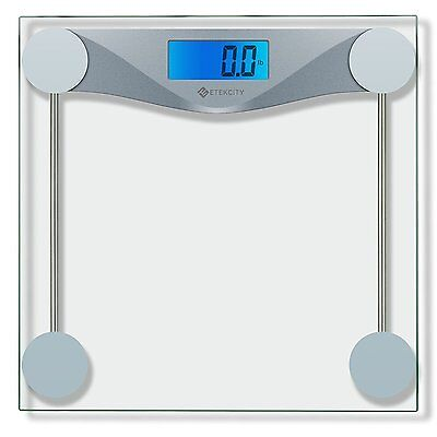 Digital Bathroom Body Weight Scale Electronic LCD Display Tempered Glass 500lbs