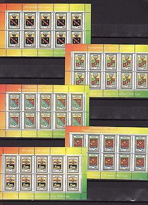 1998 arms of cities Transdniestria 5 small sheets