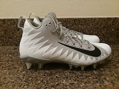 Nike Alpha Menace Pro Mid Football Cleats 871451-100 White/Black/Gray Sz 7-14,15