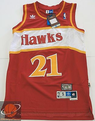 NWT Swingman Basketball Jersey DOMINIQUE WILKINS 21 Atlanta Hawks Red Men