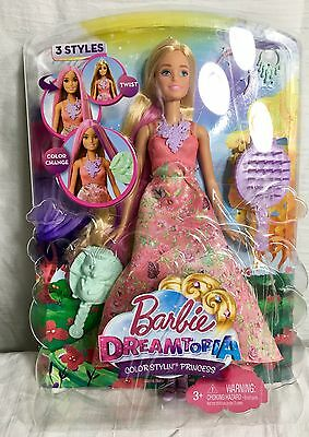 Barbie Dreamtopia Color Stylin Princess Doll 3 Color Change Styles DWH42