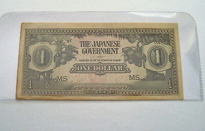 Wwii  Japanese Occupation One Banknote $1 Wwii Invasion Malaya Paper Money Unc