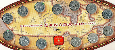 1999 Canada 13 Coin Millennium Set **royal Canadian Mint Issued** Free Shipping!