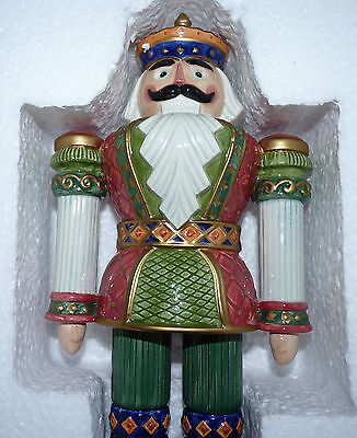 Fitz & Floyd Nutcracker Poinsettia Ornament Signature Collection + Display Box