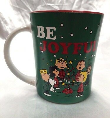 Peanuts Gang Christmas Mug  Singing Joy to the World  Be Joyful  Charlie Brown