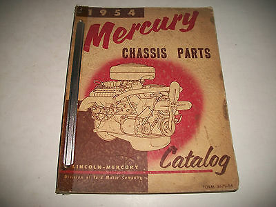 1954 Mercury Monterey Sun Valley Sports Coupe Illustrated Chassis Parts Catalog