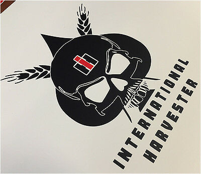 International Harvester Skull IH Farmal Tractor Vinyl Decals Stickers