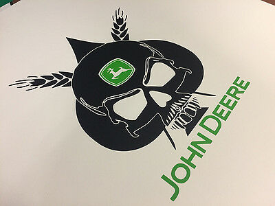 John Deere Skull Harvester Farmal Tractor Vinyl Decals Stickers