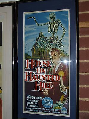 """House on the Haunted Hill Vincent Price Australian Daybill   """"Stunning"""""""
