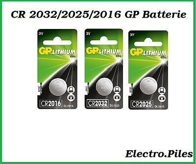 Piles/Cells boutons CR2032,CR2025,CR2016 GP Batterie, expédition gratuite !