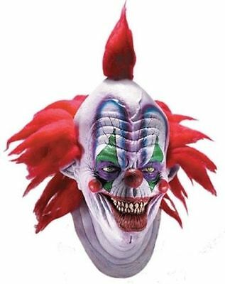 Giggles Mask Scary Killer Circus Clown Halloween Deluxe Adult Costume